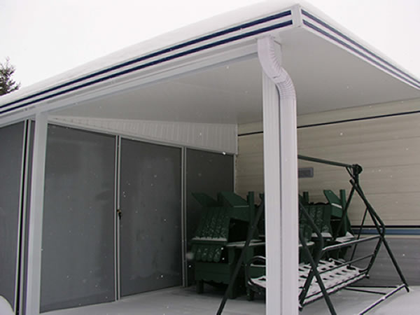 Patio Enclosure for Soft Vinyl Roof
