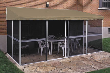 Patio Enclosure for Soft Vinyl Roof